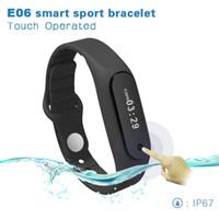 Original E06 Smart Band Bracelet Sport Bluetooth Wristband Intelligent Horloge Montre Podomètre Anti-perdu Pour iOS Android Hommes Femmes