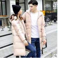 Wholesale Sweethearts outfit in the winter coat long cotton padded clothes young man han edition down cotton padded jacket woman with thick loose wint