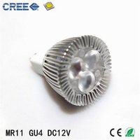 Wholesale Hot Selling CREE W MR11 GU4 LED Spotlight Aluminum x2W Degree K K LED Bulb mini LED Lamp