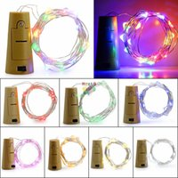 2M 20Led Glass Wine LED String Light Bouteille à vin en forme de corne Lampe à bouchon Lampe Décoration de fête de noel
