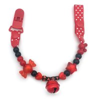 as pic baby girl boy names - Personalised Any name Hand made red Zebra beads dummy clip cool dummy holder pacifier clips soother chain for baby boy and girl