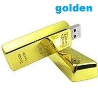 Wholesale Gold bars Usb Flash Drive gb gb gb gb gb GB Corporate gifts Pendrive Golden flash stick
