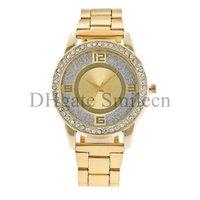achat en gros de montre dame quartz-Montres de marque de mode de New York de quartz de cristal de diamant top de luxe fameuse montre pour hommes femmes hommes dames Silver Rose Gold MW01