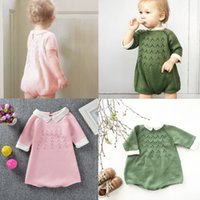 no brand 18-24 Months Unisex Baby Romper Spring Autumn Jumpsuit for Boys Girls Sweet Clothing Half Sleeve Kids Fashion Knit Clothes New