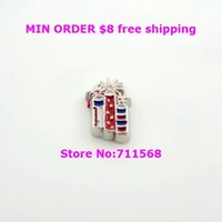 all'ingrosso fire crackers-All'ingrosso petardo Floating fascino US Flag Day Locket Charm Per vetro galleggiante Locket Accessori