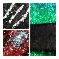 Wholesale 5mm Mermaid Colors Flip Up Reversible Sequin Fabric Sold By The Yard