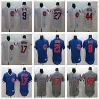 Wholesale 2016 World Series champions Chicago Cubs Javier Baez Kris Bryant Anthony Rizzo Ben Zobrist White Blue Stitched Baseball Jerseys