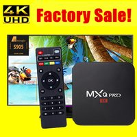 achat en gros de quad éclair-MXQ Pro 4k Amlogic S905 Android TV Box Quad Core Android 5.1 DDR3 1G Nand Flash 8G HDMI 2.0 WIFI 1080p Lecteur Smart TV Jouer Air Miracast
