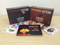Wholesale Exploding Kittens Cards Humanity Board Game with NSFW and Red Version Familay and Friends Party Playing Card Game