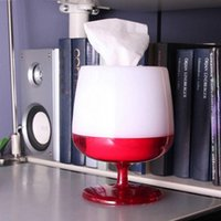 Wholesale Red Wine Glass Shape Pumping Paper Tissue Boxes Holder Livingroom Bedroom Bathroom