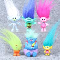 action plays - 2016 Hot Sale Trolls Action Figure Play Set Movie Cartoon Magic Long Hair Dolls Toys Kids Children Gift