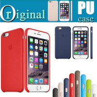 Wholesale 1 Original Copy PU Case For iPhone Official Style Ultra Thin Slim Leather Hard Cover For Iphone Plus S SE S With LOGO Free DHL