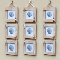 Wholesale Med style Wooden photo frame Boxes Photo frame combination Hanging inch photo studio photo frame