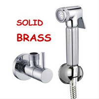 Wholesale Bathroom shower faucet bidet portable bathtub shower spray chrome finishing and m hand hose