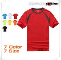 Wholesale 2016 New GILDON Man Polos Wowmen Cotton Solid Color Polos Gym Clothing Fit Short Sleeves T Shirt Sport Fitness Tshirt Homme Tees