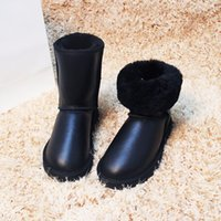 Wholesale 2017 Top Quality Genuine Sheepsfor Women Waterproof Natural Fur Wool Women Boots