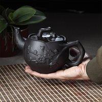 Wholesale Large capacity teapot mlHandmade Yixing purple clay potPlum Zhuni pot Kung Fu Tea Special offer
