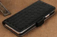De la protección de la gota Los sistemas de teléfono móvil tejidos a mano de la zalea de la cáscara IPhone 7 del teléfono del bolsillo de la tarjeta más casos cubren el envío libre C012