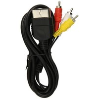 Wholesale Free DHL HOTSALE feet M Audio Cable to RCA For sony PlayStation for PS for PS2 for PS3 Video AV