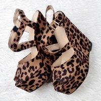 Cheap Leopard Platform Sandals High Heels | Free Shipping Leopard ...