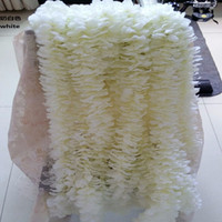 Wholesale 100pcs Elegant White Orchid Wisteria Vines Each Strip Inches Silk Artificial Flower Wreaths For Weding Decoration