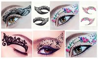 Wholesale 2016 Fashion Eye Rock Women Eyeliner Stickers Fast Template Magic Eyeliner Tattoo Sticker Makeup Temporary Smoky Sticker YXT002