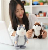 al por mayor juguete del cabrito de hámster-Talking Hamster Talk Sound Record repetir relleno de peluche de peluche de juguete de regalo de Navidad Kid Animal niños de juguete infantil KKA1220