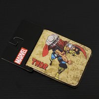 bag man marvel - Comics DC Marvel Revenge Thor Wallets Super Hero Birthday Holiday Gift Purse PU Leather Bags Men Women Fashion Casual Wallet