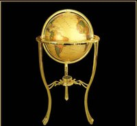 beijing globe - High Quality Beijing New cm Royal Court Brass Stand Map Home Office Living room Hotel Decorations Earth Globe The World European Style