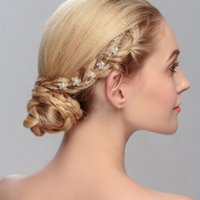 Wholesale Wedding hair lewelry european and american style pearl hair pin crystal accessories wedding jewelry for woman