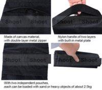 Noir Portable Counter-balance Poids sac de sable sac de sable sac pour caméra Tripod Photo Studio Flash Light bras de levier de stand en vente