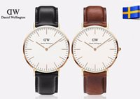 Wholesale 2017 dw watch top luxury Brand Daniel Wellington color mm mm DW Watch Women and men Leather strap sports Quartz watch Relojes