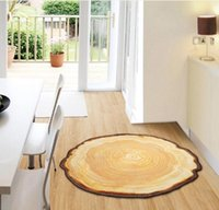 bamboo tables and chairs - 90X100CM Pastora Annual Ring Round D Carpet For Bedroom Computer Chair Area Rugs Children Bedroom Play Mat Coffee Table Mat