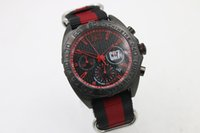 auto suppliers - sponsored supplier luxury brand watches menco axial chronograph quartz PVD watch red needles red black band Watch Men dress Watches