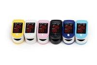 Wholesale 10 colors LED Fingertip Pulse Oximeter Spo2 Monitor Fingerpulsoximeter RPO C