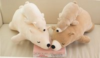Wholesale cm Japanese polar bear plush toy pillow sleepy bear doll sleeping pillow doll gift girls
