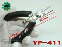 Japón RHINO Marca YP-411 110mm Long Nose Mini Alicates Super Dura Punta Desdentado Para Pesca Procesamiento Joyería Reparación Móvil Reloj