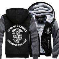 adult sweatshirt - Sons of Anarchy Unisex Adult Thicken Hoodie Zipper Coat Jacket Sweatshirts