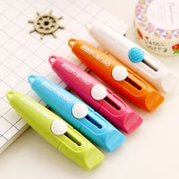 Wholesale Mini Cute Small Deli Candy Color Paper Wallpaper Photo Letter Box Cutter Art Utility Knife Office Supplies Tools