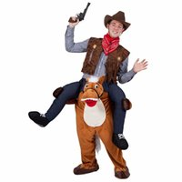 Wholesale Mascot Costume Unisex Novelty Carry Me Ride On Costume Funny Fancy Dress Christmas Costumes Carry Me Pants