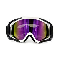 Wholesale MG A WH Universal White color Motorcycle Snowboard Goggles Oculos Motocross Biker Dirt Bike ATV MX