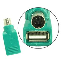 Wholesale USB FEMALE TO PS MALE ADAPTER CONVERTER PS2 usb connector Keyboard Mouse Mice