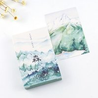 Double-Sided Tape beautiful birthday message - pack The Beautiful Scenery of Forest Mini Lomo Card Greeting Card Postcard Birthday Gift Card Set Message Card