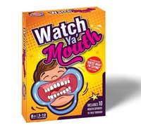 Wholesale Hot Party Game Board Game Watch Ya Mouth Game cards mouthopeners Timer Family Edition Hilarious Mouth Guard free ship