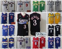 allen iverson basketball - AA Basketball Philadelphia Signature Signed Jersey Allen Iverson Erving Ben Simmons ers Retro Jersey Throwback Stitched Jerseys