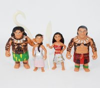 Wholesale 6pcs set cm Moana Princess Moana Maui Waialik Heihei Moana Adventure Pack Action Figure Toys For Gift