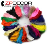 Wholesale 2017 New ZPDECOR Goose Feather pieces Beautiful Bulk Soft Goose Satinettes Feathers Loose for Decoration Goose Coquille Feather