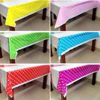 Wholesale Colorful Polka Dots Plastic Table Cover Cloth for Kids Birthday Party Decoration Baby Shower Decoration Supplies