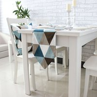 Wholesale Simple geometric table runner modern high end boutique fashion fabric bed mat table s bed towel