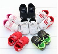 Wholesale 2016 baby PU sports shoes months children toddler shoes non slip boys and girls soft bottom casual shoes pair